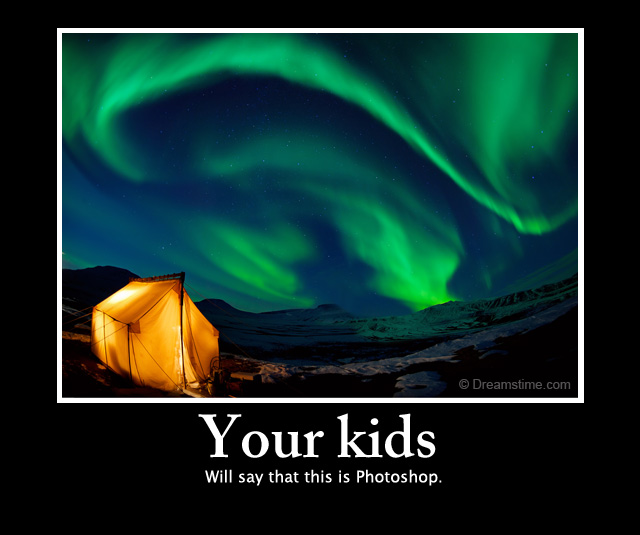 Your Kids Will Say That This Is Photoshop. Download Northern Lights Photo.